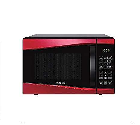 Amazon.com: 0.9-cu. FT. 900-watt Microondas Rojo 1-touch ...