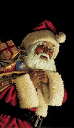 WOWindow Posters Santa Claus Jolly Christmas Window Decoration 34.5