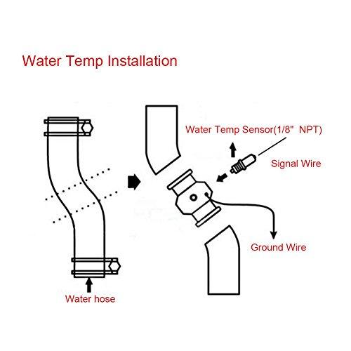 40mm Aluminum 40mm Keenso Blue 26mm Universal Water Temp Joint Pipe Water Temp Temperature Joint Pipe Sensor Gauge Radiator Hose Adapter
