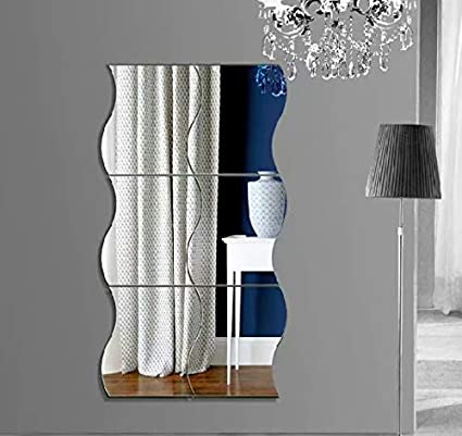 Miroir Autocollant Autocollant 3D Design Moderne Conception Future Metal  Surface Decoration Murale Vignette Salon Chambre A Coucher: Amazon.fr:  Bricolage