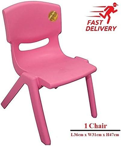 Blue TOYO 5x Children Strong Stackable Kids Plastic Chairs Picnic Party Garden Nursery Club Indoor Outdoor
