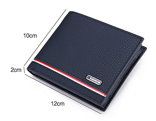 Front Billfold Slim Coin Men Blue Wallet BININBOX Card Purse Case ID Pocket Leisure B5vzqCw