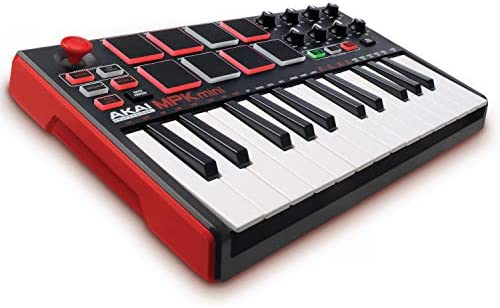 Akai Professional MPK Mini Mkii 25 Tastatur Paket Stoßfestes Reise Koffer H4C7