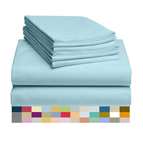 Antibacterial Wrinkle Free Stronger /& Softer than Cotton Fade Resistant 6 PC LuxClub Bamboo Sheet Set w// 18 inch Deep Pockets Silky Hypoallergentic Eco Friendly White California King