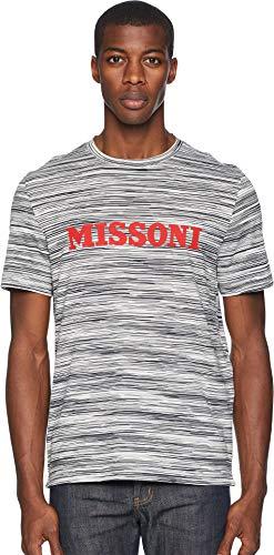 (Missoni Men's Printed Jersey T-Shirt Black/White X-Large)