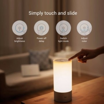Original Xiaomi Yeelight Bedside Lamp RGB Wireless Touch Control Night Light For Cellphone