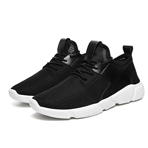 (kingfansion Fashion Men's Harness Sports Running Casual Breathable Lightweight Sports Shoes Solid Shoes (39, Black) )