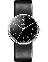 Braun Mens BN0021BKBKG Classic Stainless Steel Watch with Black Band