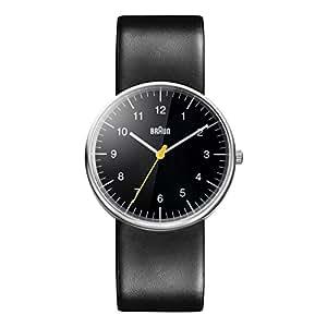 Braun BN0021BKBKG - Reloj analógico de caballero de cuarzo con correa de piel negra