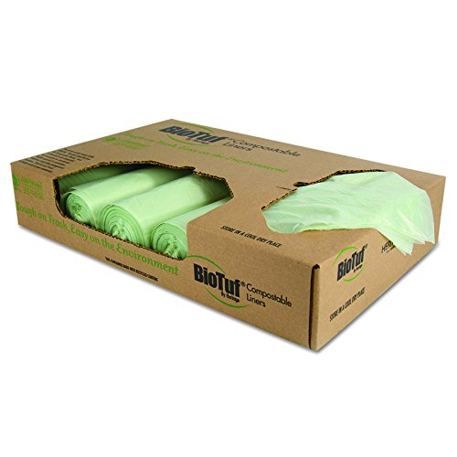HERY8448YER01 - 48 GAL BIO TUF CAN LINERLT. GREEN 100/CASE by Heritage Products (Image #2)