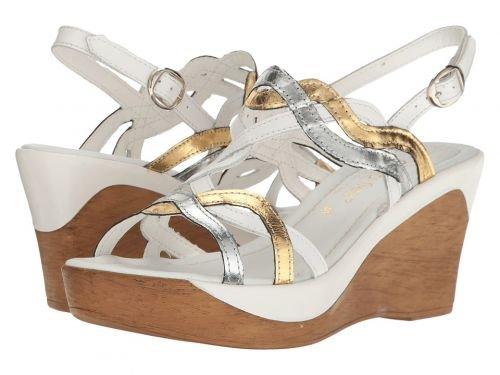 David Tate(デービッドテール) レディース 女性用 シューズ 靴 サンダル Alto - White Multi Leather [並行輸入品]