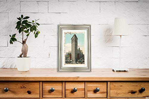 (Flat Iron Building, New York, N. Y, 1903 Postcard Vintage Antique Fine Art Reproduction Photo |Size: 8x12|Ready to Frame)