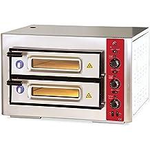 Amazon.com: Commercial Countertop Elecrtic Pizza Oven 2 Double Door ...