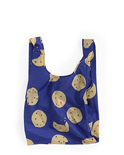 BAGGU Standard Reusable Shopping Bag, Eco-friendly Ripstop Nylon Foldable Grocery Tote, Cookie