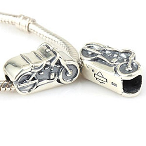 Motorcycle Charm 925 Sterling Silver Bead Fit Pandora Charms