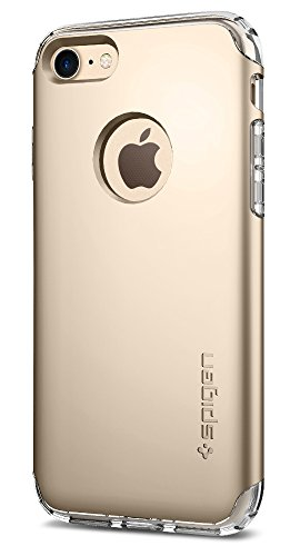 Spigen Hybrid Armor iPhone 7 Case/iPhone 8 Case with Air Cushion Technology and Hybrid Drop Protection for Apple iPhone 7 (2016)/iPhone 8 (2017) - Champagne Gold