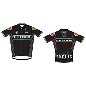 "BEST Cycling Jersey – By Hincapie Sportswear – Limited Edition ""Irish Exiles Design"" –UV Proof - Race-Fit Jersey as used by BMC Racing – FREE Musette Bag with every Order – 5 Star Rated"