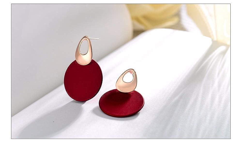 1 Pair Fashion Elegant Women Ladies Round Dangle Long Ear Stud Drop Earrings