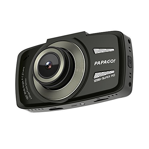 Papago GoSafe 550 Super HD 1296p 160 Degree Ultra Wide Angle Dash Cam with 8GB Micro SD Card by PAPAGO