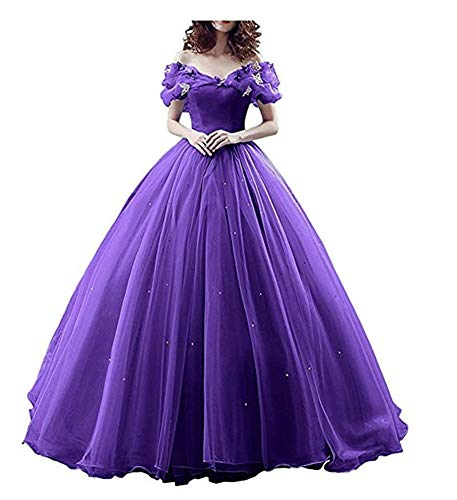 Quinceanera Dresses 2019 Off Shoulder Masquerade Dress Girls' Princess Pageant Gown Purple Size 16 ()