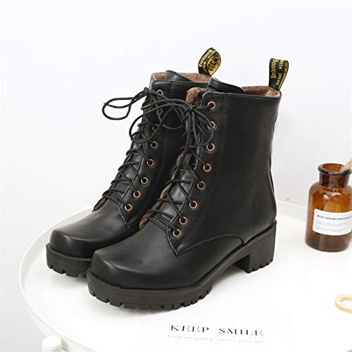 f3a5f8d24fe Sandalette-DEDE Zapatos para Mujer Botas Botas cómodas y Botas Bajas con  Cordones Botas de Mujer  Amazon.es  Deportes y aire libre