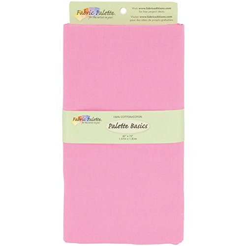 Fabric Editions 2-Yard Pre-Cut Fabric Palette, 42 by 72-Inch, Bright Pink