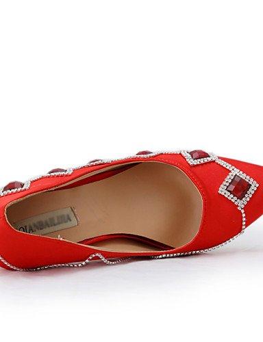 GGX/Damen Schuhe Silk Stiletto Heel Heels/spitz Toe Heels Hochzeit/Party & Abend/Kleid Rot 3in-3 3/4in-us7.5 / eu38 / uk5.5 / cn38