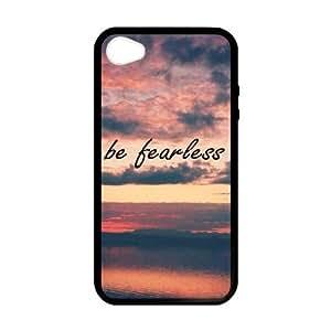 Custom Unique Design Be Fearless Iphone 5C Silicone Case