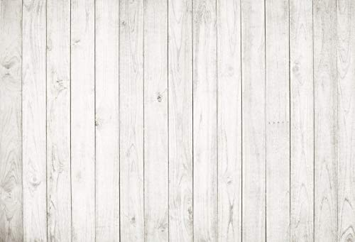 Yeele 7x5ft Vintage Wood Backdrop Retro Rustic White and Gray Wooden Floor Background for Photography Kids Adult Photo Booth Video Shoot Vinyl Studio Props (Fence Backdrop)