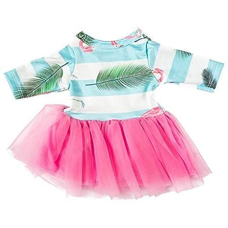 YOMORES 18-Inch 11Pieces 7 Outfits Unicorn Costume Clothes for American Girl Doll Accessories Set 7 Pcs Dress.2Pcs Underwear 1 Pc T-Shirt Vest 1Pc Wreath C1 7Sets