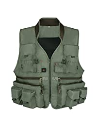 Goture Men Outdoor Multipocket Fishing Vest Breathable Mesh Waistcoat for Fly Fishing Camping Traveling Photography