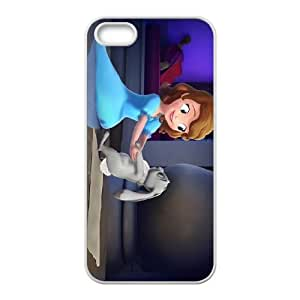 iPhone 5 5s Cell Phone Case White Disney Sofia the First Character Clover KTK