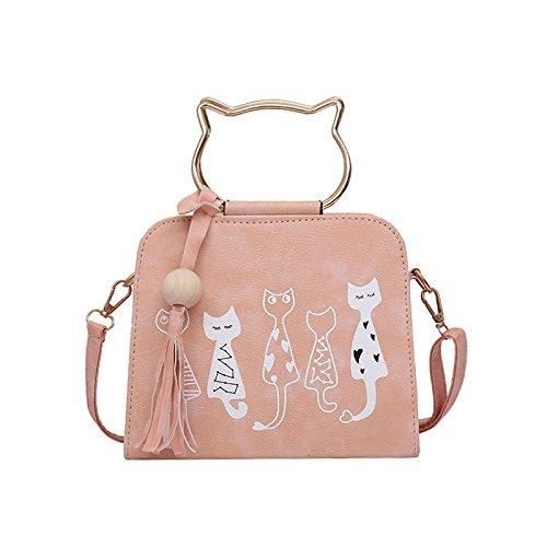 Nouvelle Diagonale Dames Femelle Sac Pink Été Épaule Main À Tendance ZM Sac Cat 2018 Nouveau Sac AOfEwnnY7q