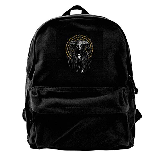 MIJUGGH Canvas Backpack Princess Reborn Pans Labyrinth Rucksack Gym Hiking Laptop Shoulder Bag Daypack for Men Women