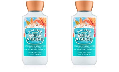 (Bath and Body Works 2 Pack Whipped Vanilla & Spice Super Smooth Body Lotion. 8)