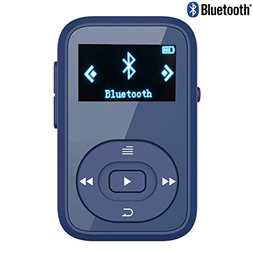 X26 8GB Clip Sport Bluetooth MP3 Music Player with FM Radio Record Lossless Sound Portable Music Player (Supports up to 64GB)