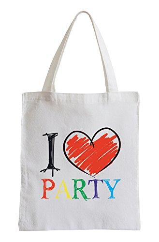 Amo Party Fun sacchetto di iuta