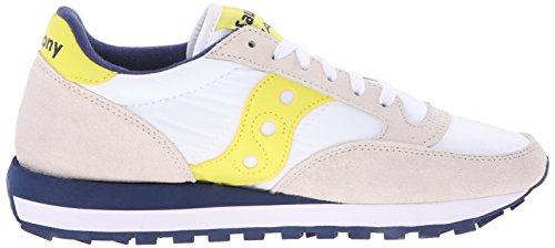 Blanco Para Yellow Jazz White Mujer Saucony Zapatillas Original Blanco 4TqnwHp