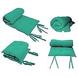 Queen Size Green Guest Bed Rolling Mattresses Comfort Floor Mat Pad 3 Inch