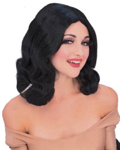Rubie's Flowing Mid-Length Wig, Black, One ()
