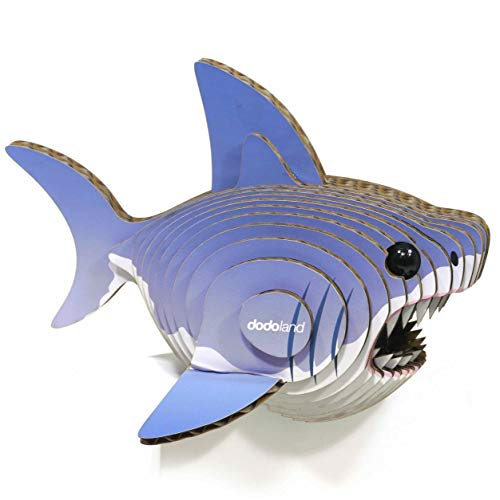 Dodoland - Eugy Shark 3D Puzzle - Educational Kid Toys for Boys and Girls, Puzzle Great for Gifts, Home and School - 61125