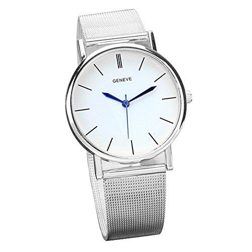 Women Watch,SMTSMT Geneve Women's Steel Band Quartz Wrist Watch _Silver