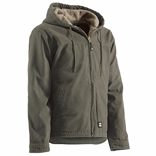 Berne Men's Washed Hooded Work Coat 3XL and 4XL Grey XXX-Large