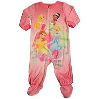Disney Princess - Baby Girls Disney Princesses Footed Blanket Sleeper, Pink 3...