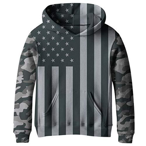 SAYM Teen Boys' Galaxy Fleece Sweatshirts Pocket Pullover Hoodies 4-16Y NO15 XS
