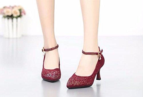 para Que zapatos suave amistad el de estaciones tacón Zapatillas alto KPHY latino zapatos las danza danza el adulto danza año que que la del mujer que 34 suelo de baile cuadrados de que de baile zapatos RIWqwBT