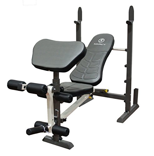 Marcy Folding Standard Weight Bench – Easy Storage ()