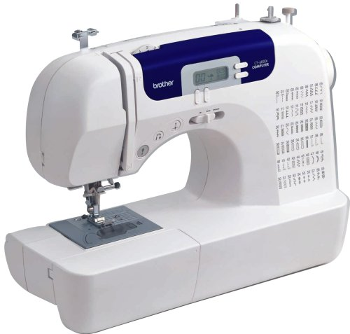 Brother CS6000i Feature-Rich Sewing Machine With 60 Built-In Stitches, 7 styles of 1-Step Auto-Size Buttonholes