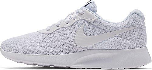 Nike Wmns Tanjun, Zapatillas de Gimnasia para Mujer Blanco (White/White/Black 110)