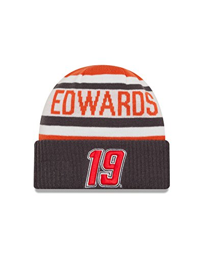 NASCAR Joe Gibbs Racing Carl Edwards Biggest Fan 2.0 Knit Beanie, One Size, Orange